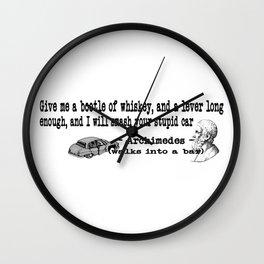 Archimedes Walks Into A Bar #3 Wall Clock