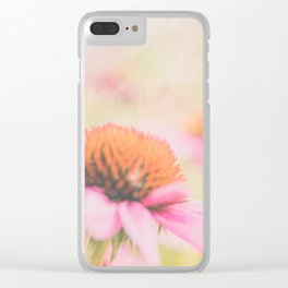 Pink Coneflower Revels Clear iPhone Case