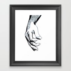 Lyrics Framed Art Print