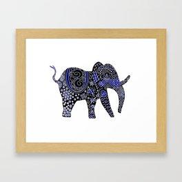 Patterned Elephant Framed Art Print