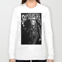 sky ferreira Long Sleeve T-shirts featuring Sky ferreira no,13 ''Night time is my time''' by Lucas David