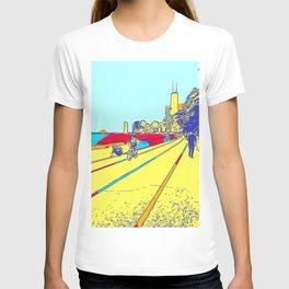 Chicago City Comic Art Pop Art T-shirt