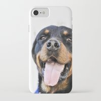 rottweiler iPhone & iPod Cases featuring Happy rottweiler by StarsColdNight