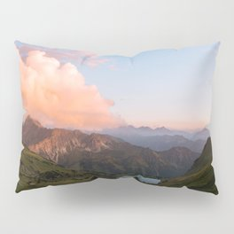 Mountain lake in Germany with Moon - landscape photography Pillow Sham