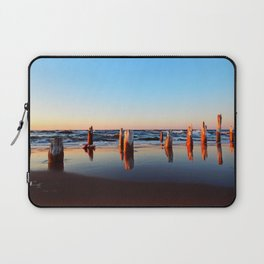Reflected Remains on the Beach Laptop Sleeve