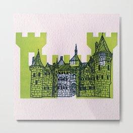 Letterpress Castle 1 Metal Print