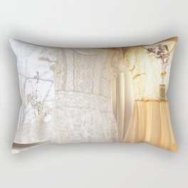 flower and dresses IIII Rectangular Pillow