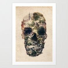 Skull Town Art Print
