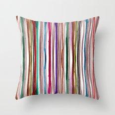 Rainbow Stripes 2 Throw Pillow