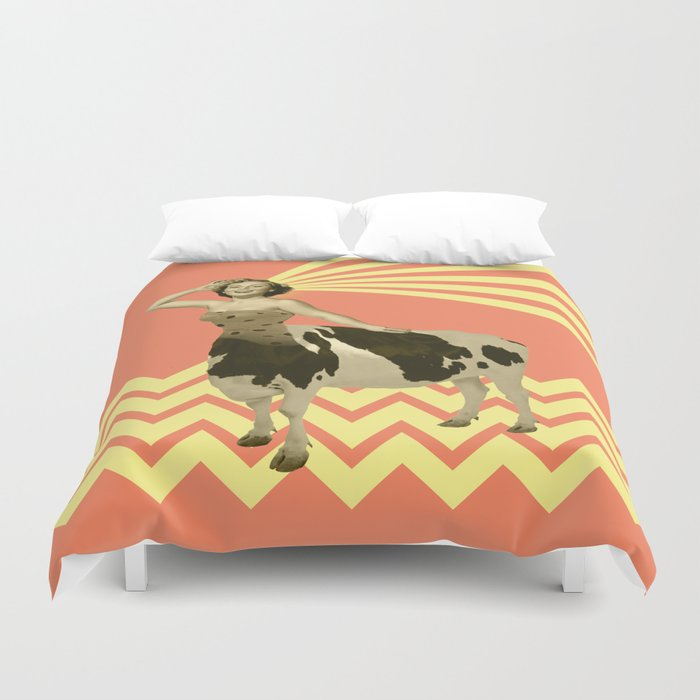 The real girly cow girl Duvet Cover