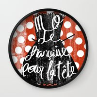 depeche mode Wall Clocks featuring MODE by Celia Sáez