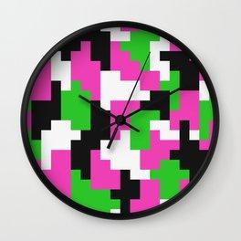 Girl Boss neon color blocks Wall Clock