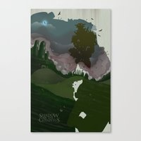 shadow of the colossus Canvas Prints featuring Shadow Of The Colossus by Duke Dastardly