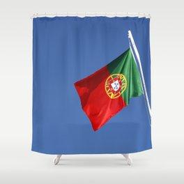 Portuguese national flag Shower Curtain