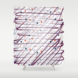 Maroon Splatter Pattern Shower Curtain