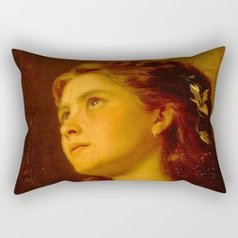 Anderson Sophie-Portrait of a Young Girl Rectangular Pillow