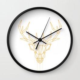 geometric Dearhead Wall Clock