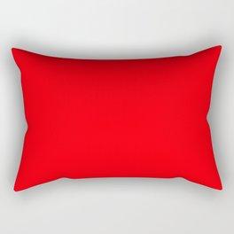 Bright Fluorescent Neon Red Fireball Rectangular Pillow