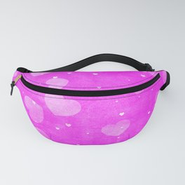 Neon Hot Pink Hearts Pattern Fanny Pack