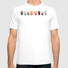 Teacups Border Mens Fitted Tee White SMALL