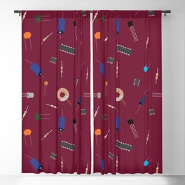 Circuit Elements - Maroon Blackout Curtain