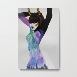 Fierce Femme Flo Metal Print