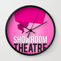 theatre Wall Clocks featuring Showroom Theatre by Chris Andrawes