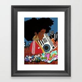 Old school Afro Framed Art Print