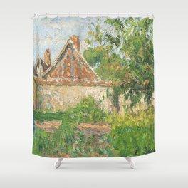 "Camille Pissarro ""Coin du jardin à Éragny"" (1899)(""Corner of the garden in Éragny"" Shower Curtain"