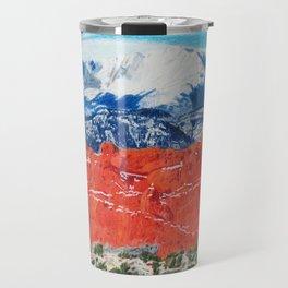 Pikes Peak Behind the Garden of the Gods Travel Mug
