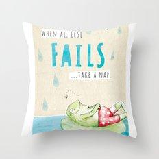 Frog Nap Throw Pillow
