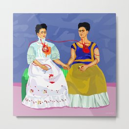 The two Fridas Metal Print