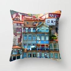Houses Throw Pillow