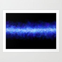 Blue Light Beam Art Print