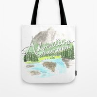 "pixar Tote Bags featuring ""Adventure is Out There!"" - Up, Pixar by astoldbycaro"