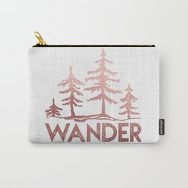 WANDER Adventure Forest Rose Gold Pink Carry-All Pouch