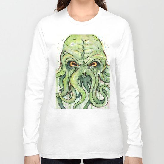 Cthulhu Green Tentacles Long Sleeve T-shirt