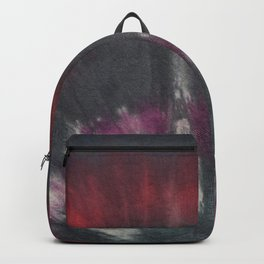 Tie Dye Black Purple Red Backpack