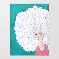 jane davenport Canvas Prints featuring Puffball by Jane Davenport by Jane Davenport