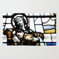 christ Area & Throw Rugs featuring Jesus Christ by miss|melissa