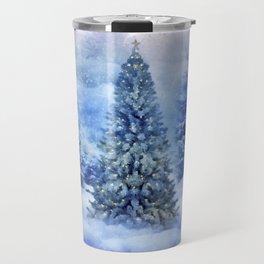 Christmas tree scene Travel Mug