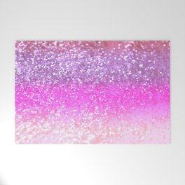 Unicorn Girls Glitter #1 #shiny #decor #art #society6 Welcome Mat