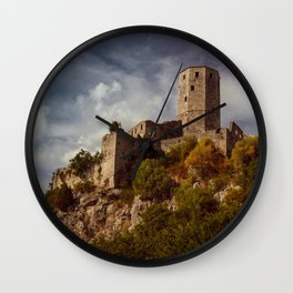 An old abandoned castle Wall Clock