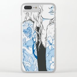 art nouveau woman Clear iPhone Case
