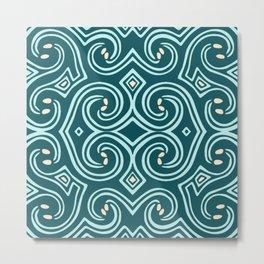 Svortices (Blue) Metal Print