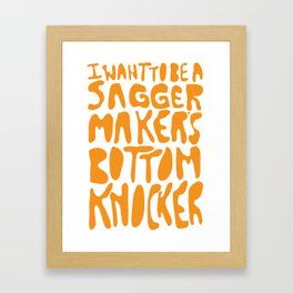 Sagger Maker's Bottom Knocker Framed Art Print