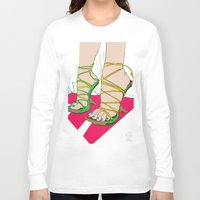 feet Long Sleeve T-shirts featuring Feet by Mauro Squiz Daviddi