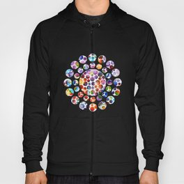 Dots on Painted Background 5 Hoody