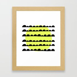 half moon pattern with yellow circle Framed Art Print