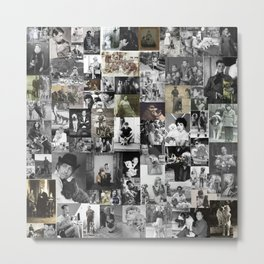 History of dogs in photos Metal Print